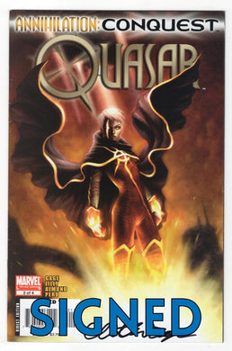 Annihilation Conquest Quasar #2 Cover Signed