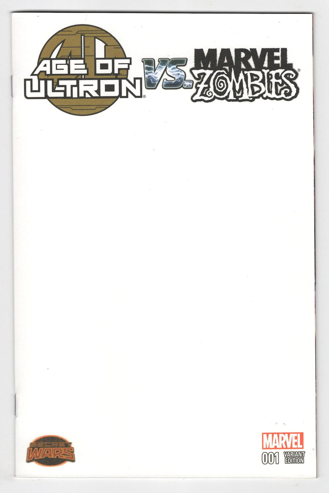 Age of Ultron vs Marvel Zombies #1 Variant Cover Front