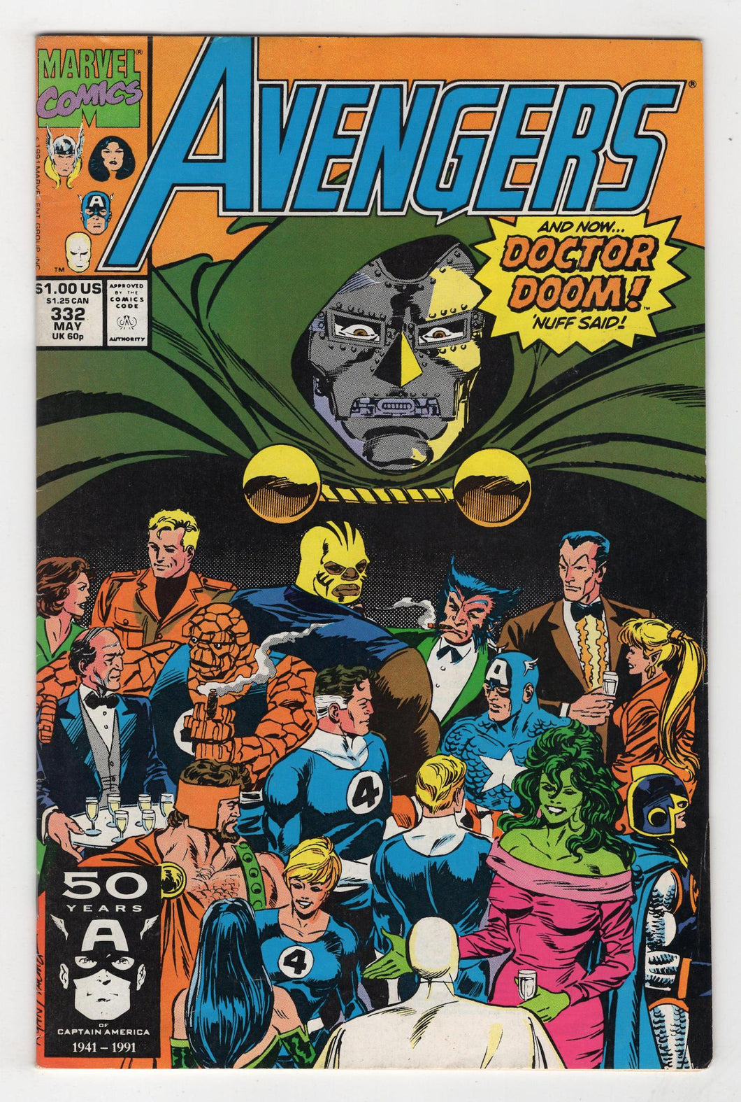 Avengers #332 Cover Front