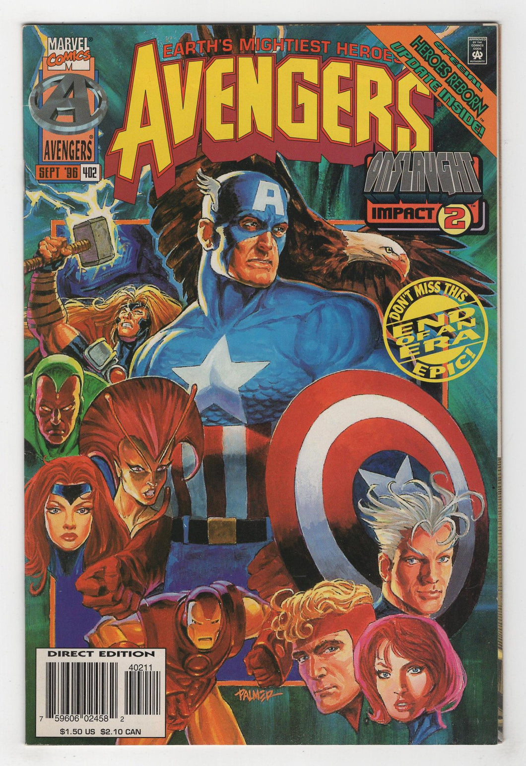 Avengers #402 Cover Front