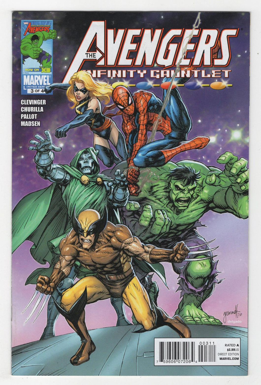 Avengers and the Infinity Gauntlet #3 Cover Front