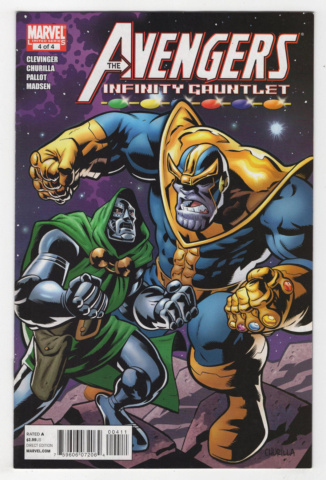 Avengers and the Infinity Gauntlet #4 Cover Front
