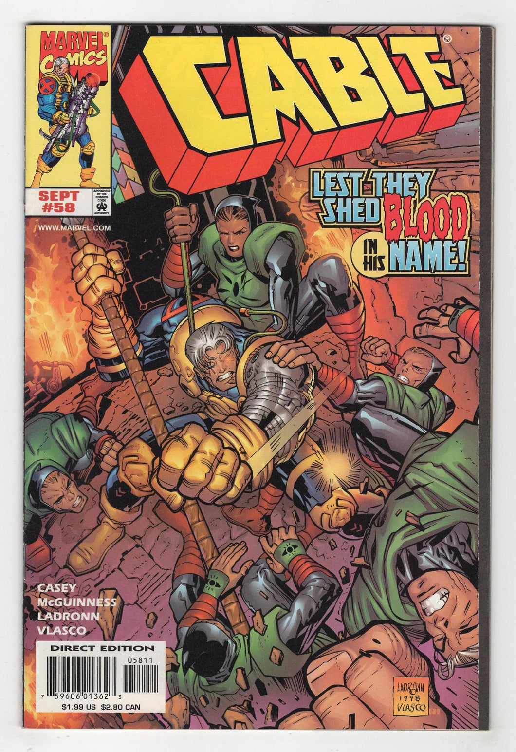 Cable #58 Cover Front