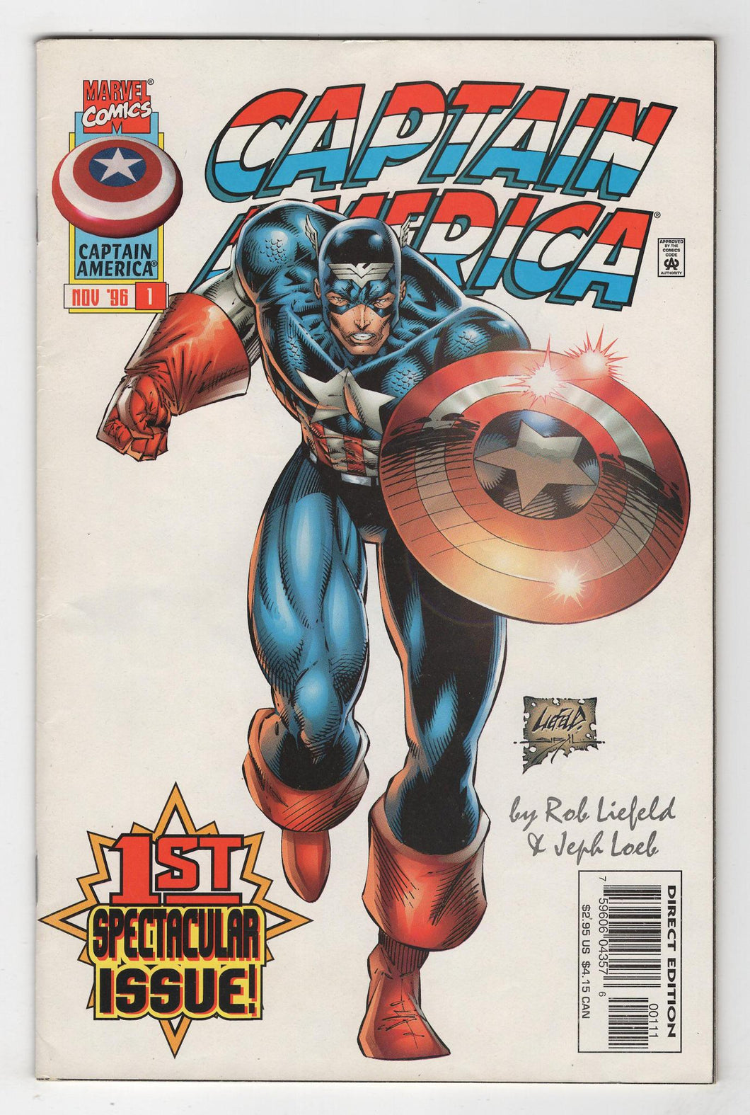Captain America #1 Cover Front