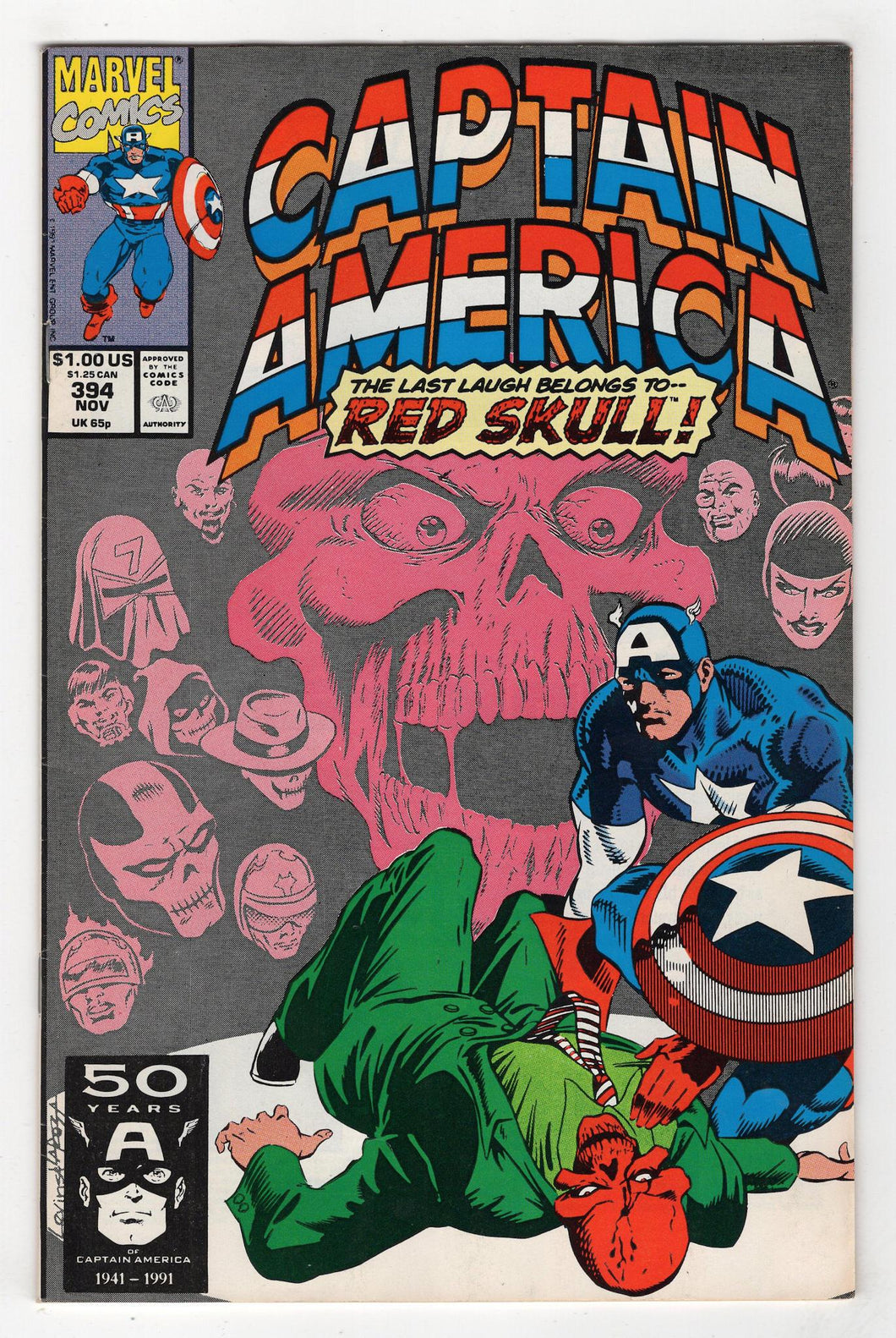Captain America #394 Cover Front
