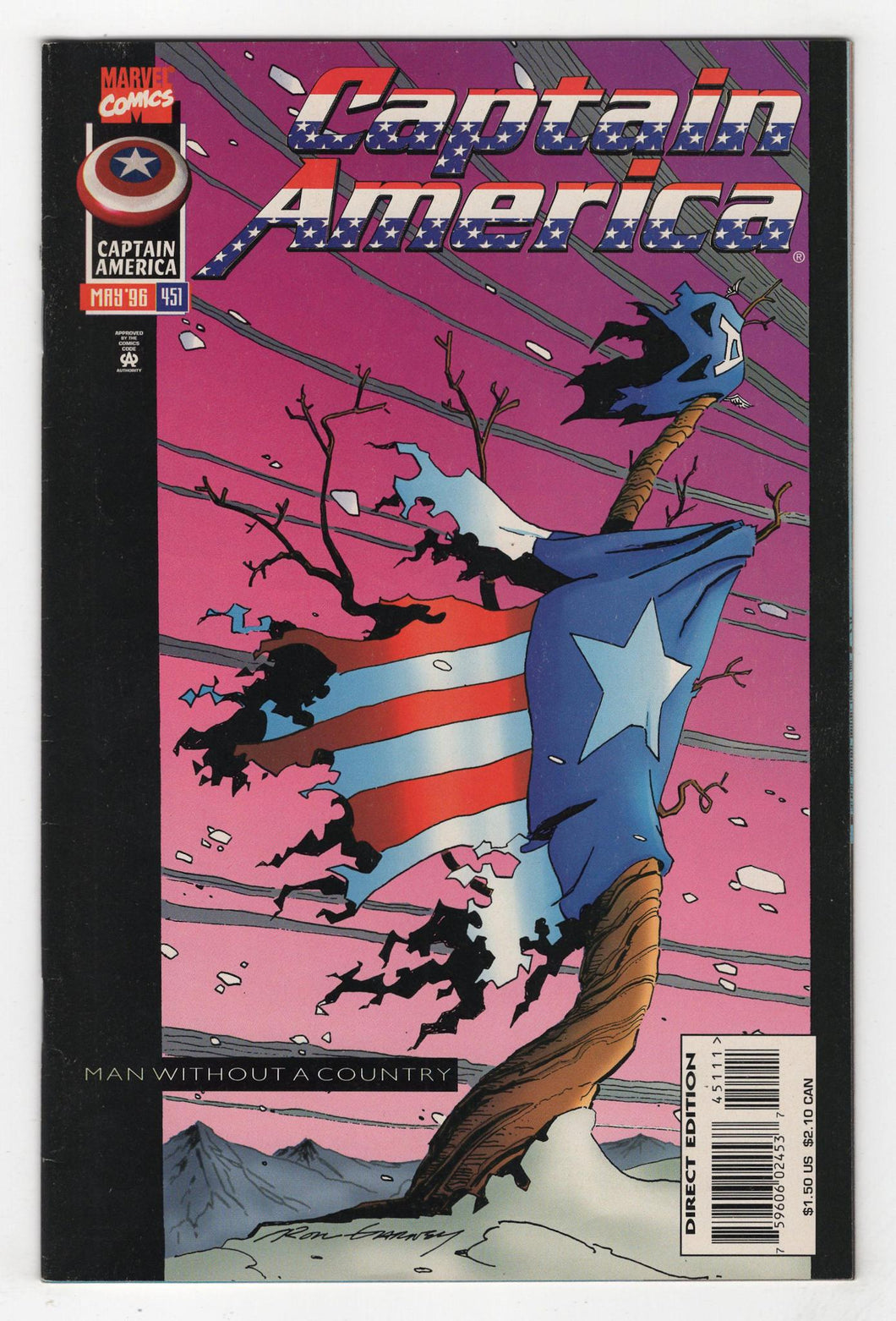 Captain America #451 Cover Front