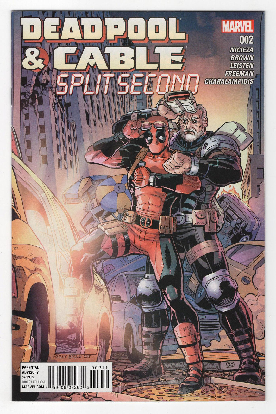 Deadpool and Cable Split Second #2 Cover Front