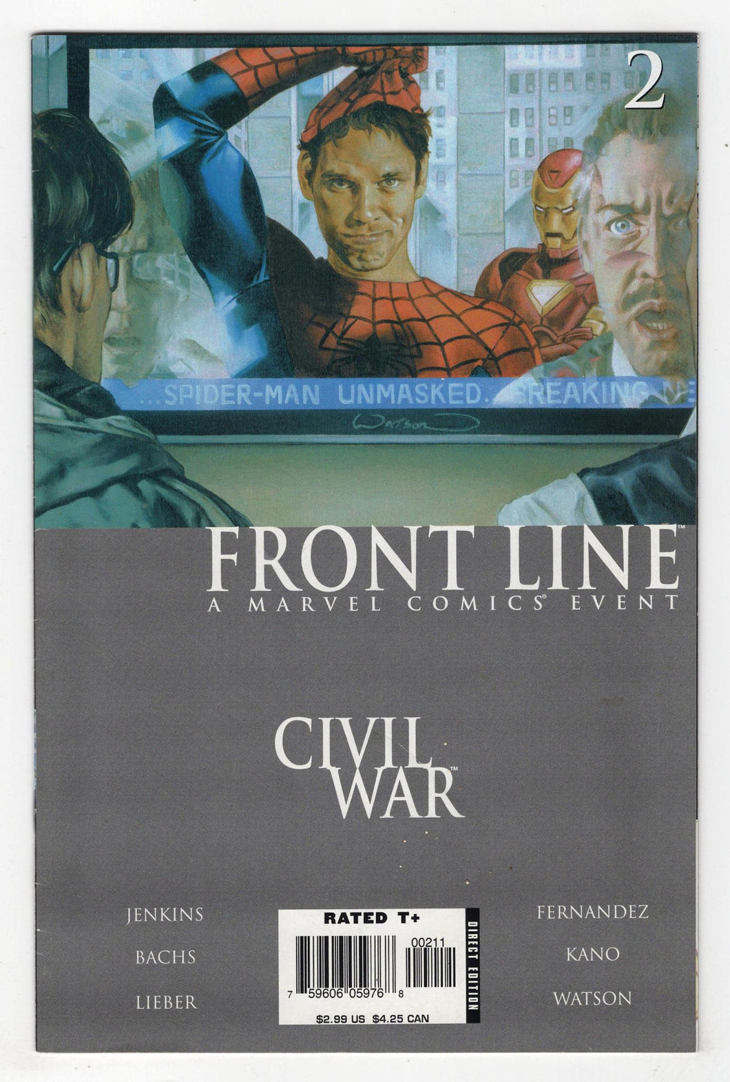 Civil War Frontline #2 Cover Front