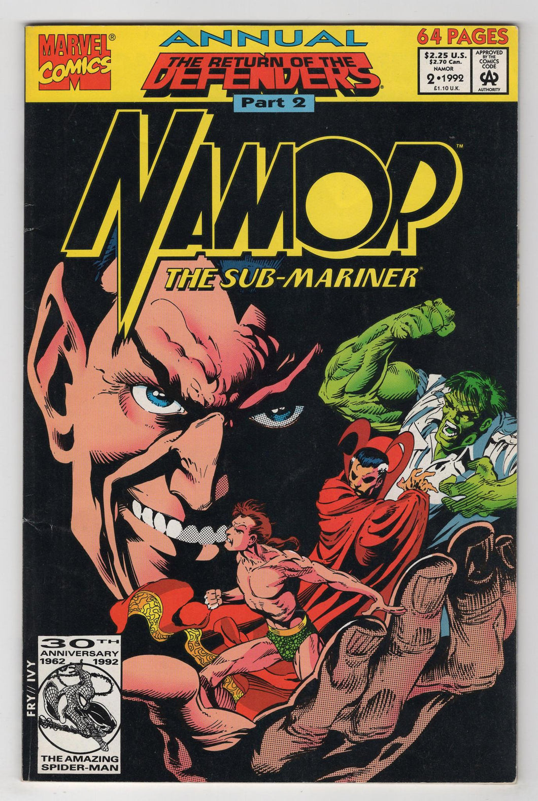 Namor Annual #2 Cover Front