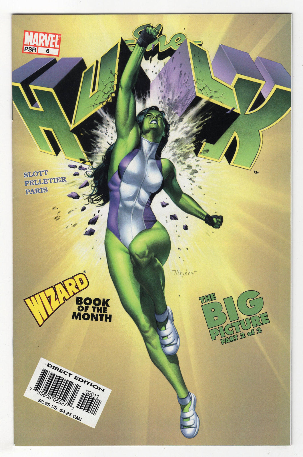 She-Hulk #6 Regular Mike Mayhew Cover (2004) Front