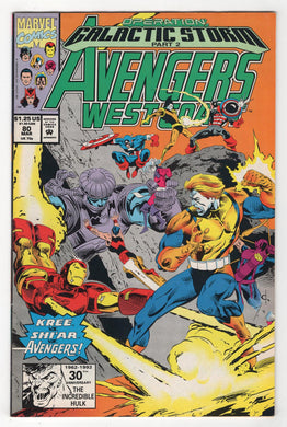 Avengers West Coast #80 Cover Front