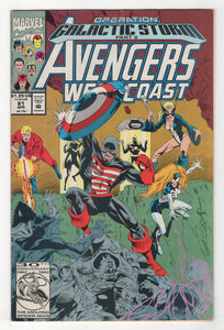Avengers West Coast #81 Cover Front