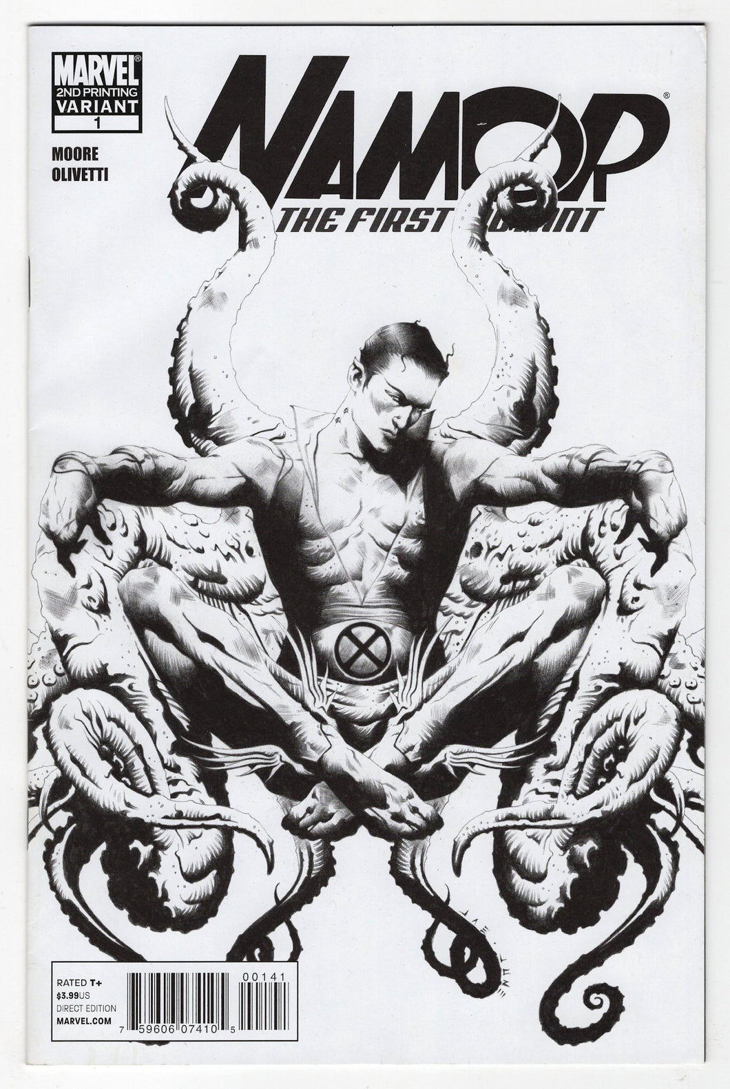 Namor First Mutant #1 2nd Print Variant Cover Front