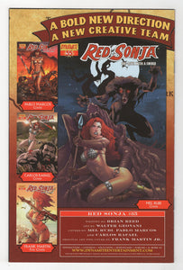 Red Sonja #34 Cover Back