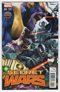 Secret Wars #1 GameStop Variant Cover Front
