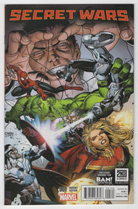 Secret Wars #1 BAM Variant Cover Front