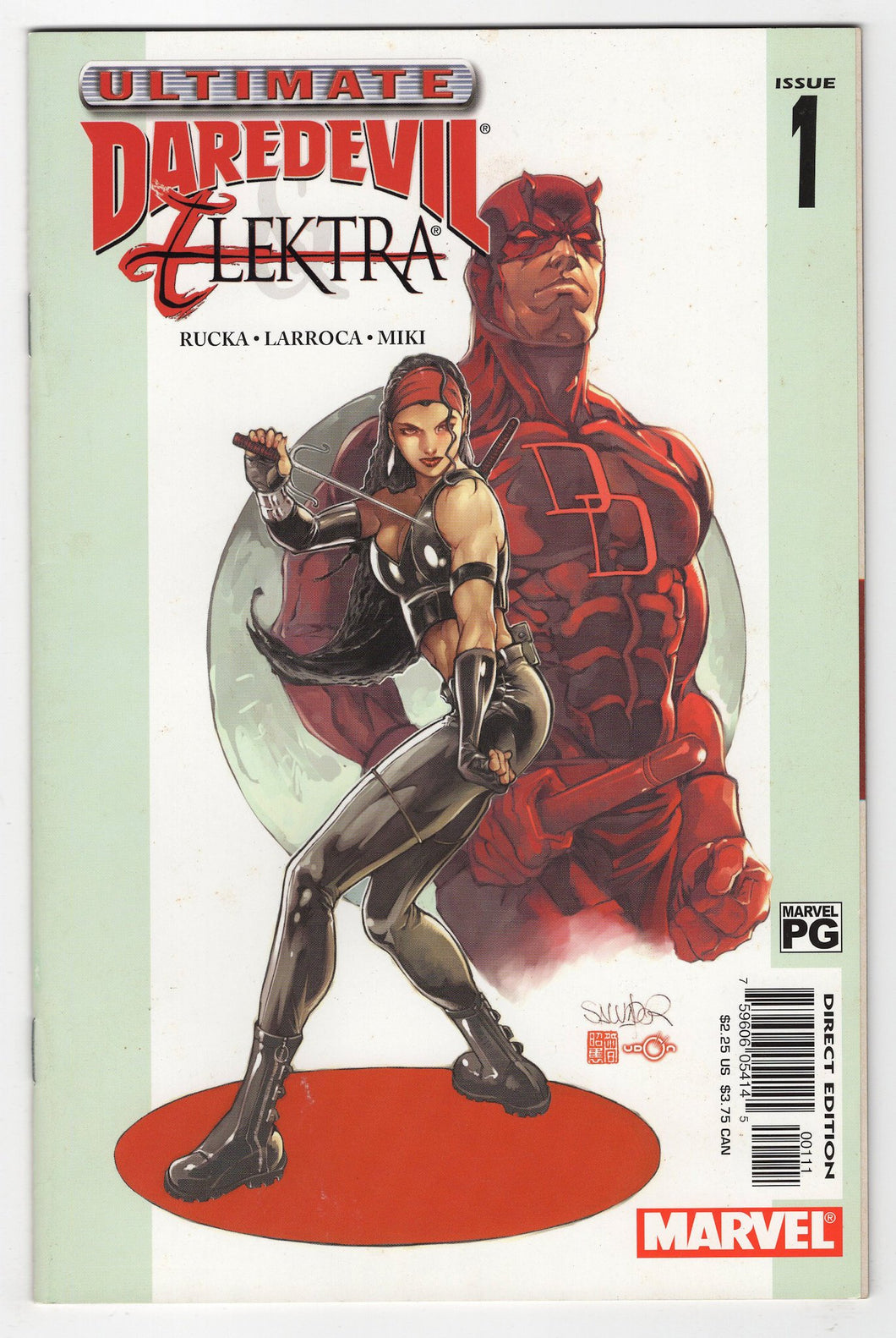 Ultimate Daredevil and Elektra #1 Cover Front