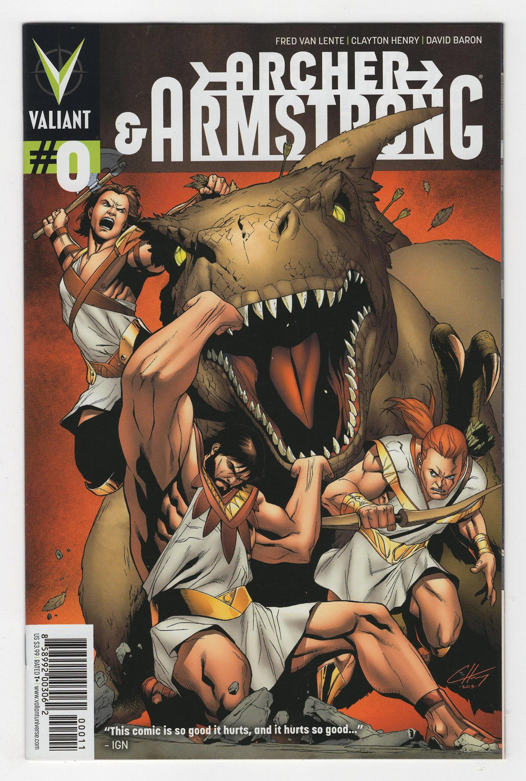 Archer and Armstrong #0 Cover Front