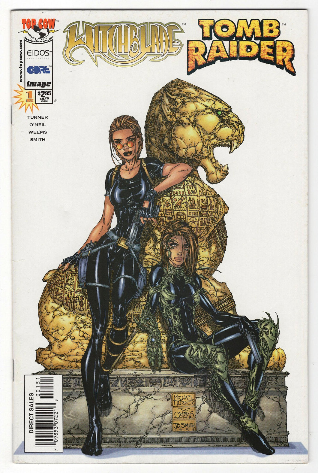 Witchblade Tomb Raider #1 Variant Cover Front