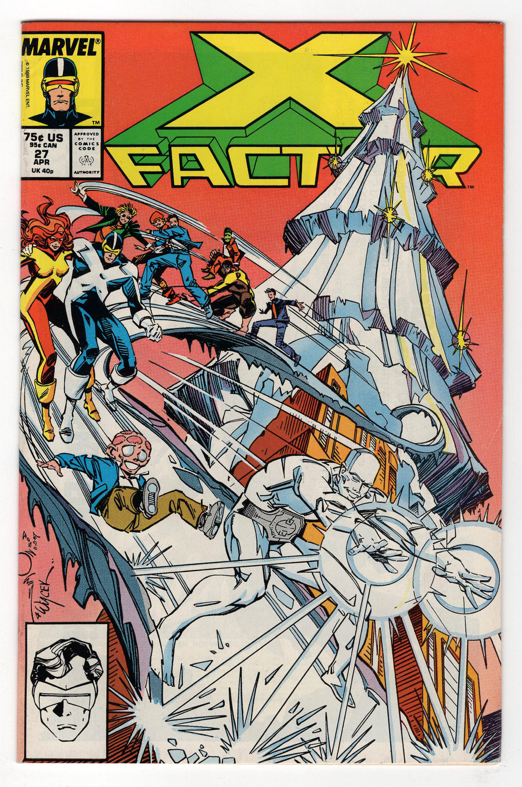 X-Factor #27 Regular Walt Simonson Cover (1988) Front