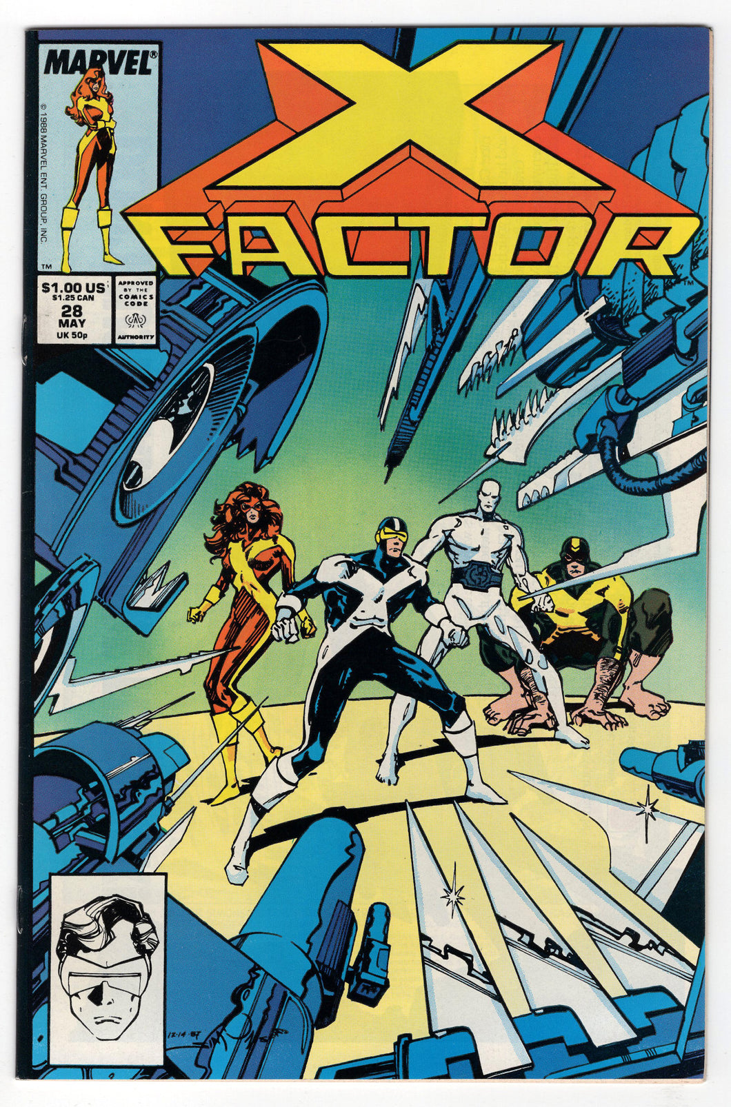 X-Factor #28 Regular Walt Simonson Cover (1988) Front