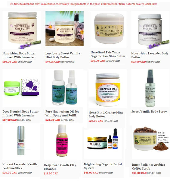 Natural skincare shop in Ontario Canada