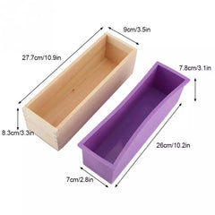 Wood and silicone soap mold