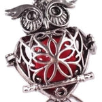 Owl Aromatherapy Essential Oil Diffuser Vintage Necklace With Pad - Free Shipping