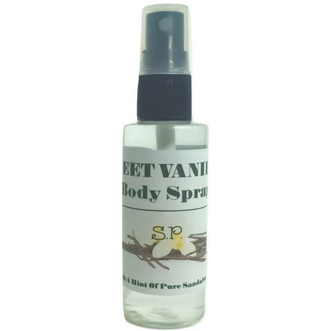 Sweet Vanilla Body Spray 2OZ - Simply Pure By Salisha