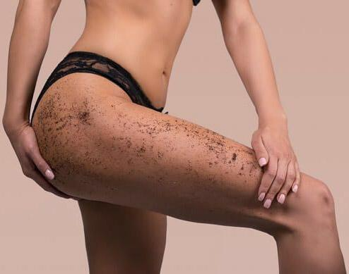 organic coffee scrub and exfoliating polisher for cellulite