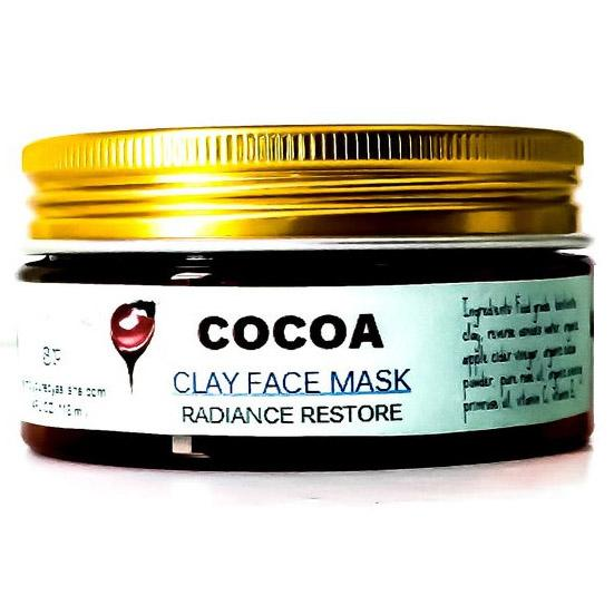 clay mask with cocoa and lavender