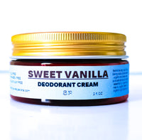 Sweet Vanilla Sandalwood Deodorant Cream 2 OZ