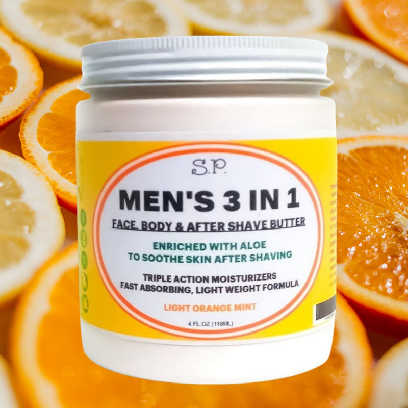 Men's 3 in 1 Orange Mint Body Butter