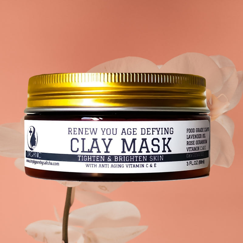Renew you age defying clay mask with vitamin c