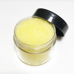 Edible plumping lip scrub