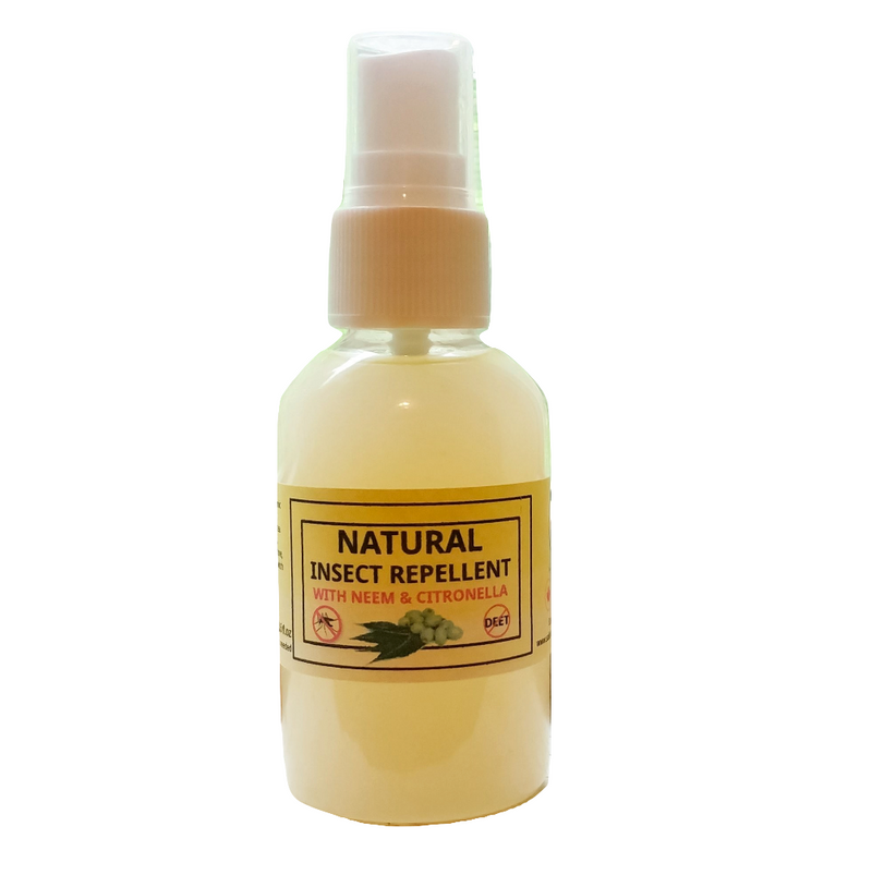 insect repellent organic deet free spray with neem and citronella