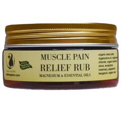 Muscle pain relief rub with magnesium