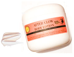 after glow shimmering bronzing organic lotion with shea butter