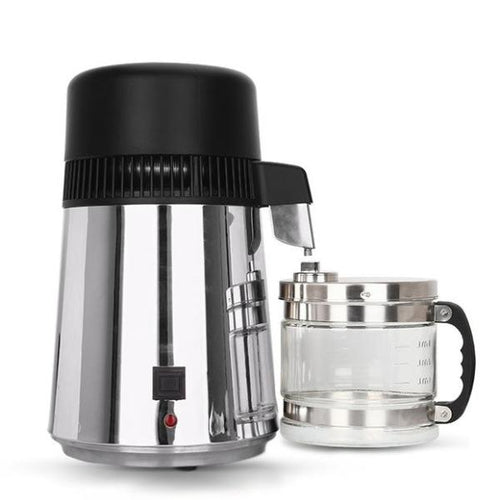 Best-In-Class Stainless Steel Water Distiller with Glass Carafe