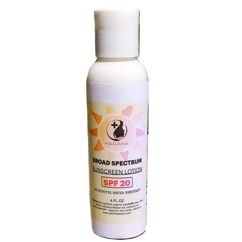 organic sunscreen spf20 lotion with shea butter