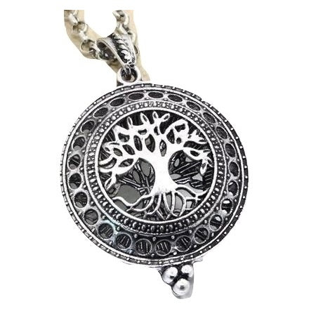 Tree of life aromatherapy necklace