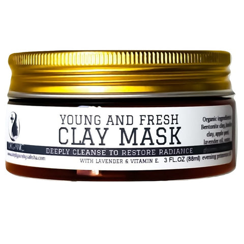 Young and fresh face mask with vitamin e