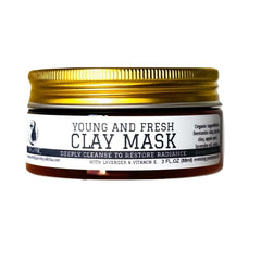 young and fresh clay mask