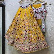 Load image into Gallery viewer, Yellow Wedding Sangeet Haldi Lehenga Set SFINS255SD - Siya Fashions