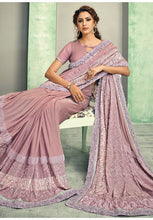 Load image into Gallery viewer, Indian Wedding Party Saree In Lycra Pink With Blouse SIYA54YSD - Siya Fashions
