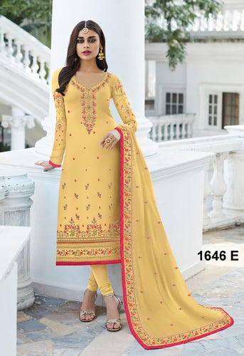 Indian Party Wear Churidar Online Suits Gerogette Fabric SIYA11035