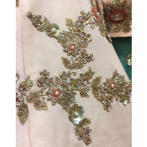Clients Diary Silk Peach Bridal Lehenga Choli SFI091 - Siya Fashions