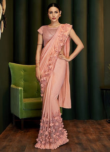 Bridesmaid Designer Evening Lehenga Saree In Silk Georgette SIYA116YDS - Siya Fashions