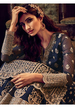 Load image into Gallery viewer, Navy Blue Net Palazzo Salwar Kameez Suit YDS8665PZ - Siya Fashions