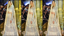 Load image into Gallery viewer, Bollywood Reception Wedding Ivory Lehenga Set SFINS255SD - Siya Fashions